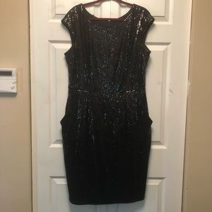 Alex Evenings Sequin Dress WITH POCKETS